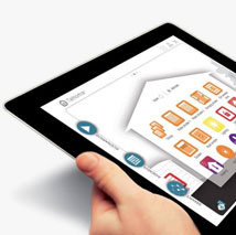 Image showing tablet with app open and being used